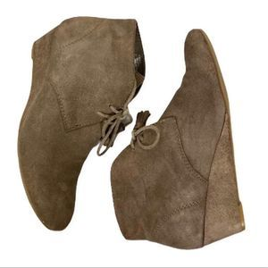 Crown Vintage suede tie up bootie